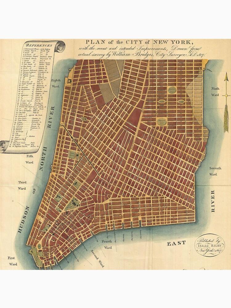 Vintage Map of Lower New York City (1807) de BravuraMedia