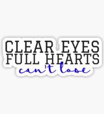 Clear Eyes, Full Hearts Cursive Sticker
