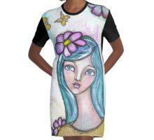 Heartfelt Girl - Daisy Graphic T-Shirt Dress