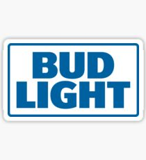 BLUE TEXT BUD LIGHT Sticker