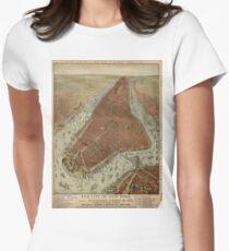 Camiseta entallada para mujer Vintage Pictorial Map of New York City (1879) 2