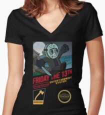 Super Voorhees bros Women's Fitted V-Neck T-Shirt