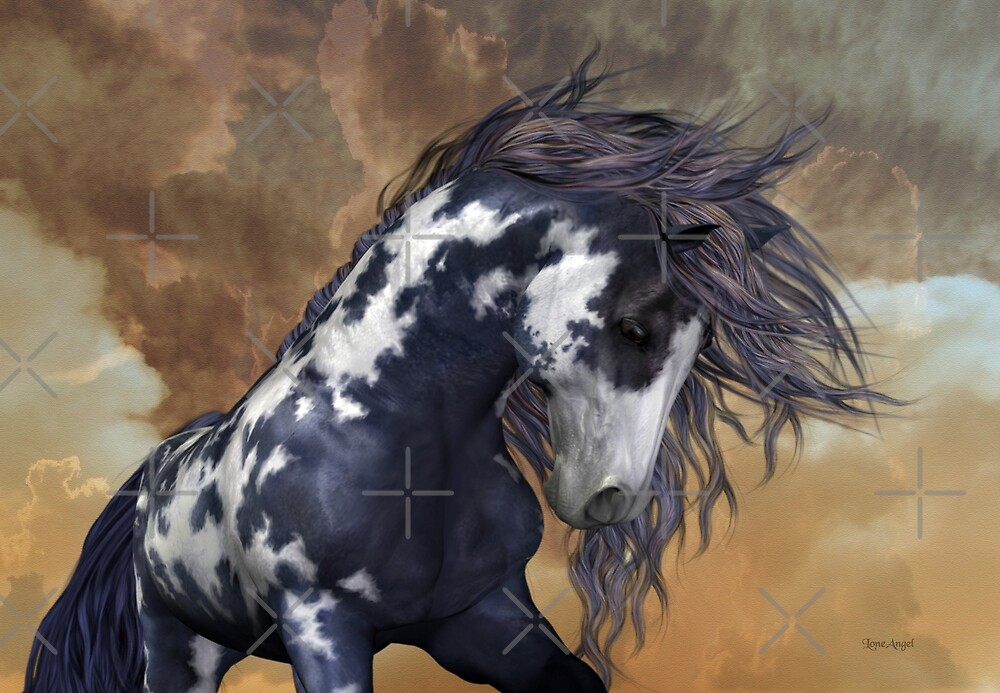 Quot Storm Wild Stallion Quot By Loneangel Redbubble