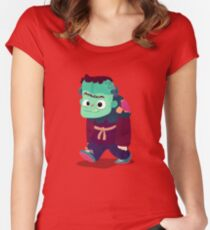 Halloween Kids - Frankenstein's Monster Women's Fitted Scoop T-Shirt
