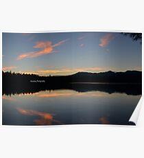 Sunset over Lake Chocorua Poster