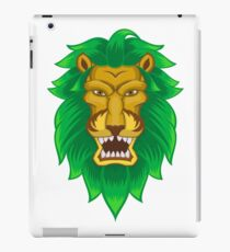 Grüner Löwe iPad-Hülle & Klebefolie