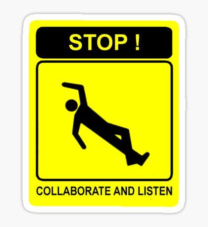 Collaborate and Listen Sticker