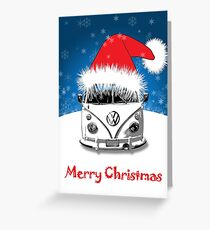 VW Camper Merry Christmas Card Greeting Card