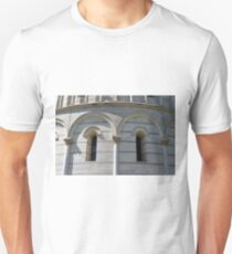 Detail of the Baptistery building in Piazza dei Miracoli (Square of Miracles), Pisa, Tuscany, Italy Unisex T-Shirt
