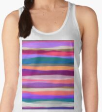 Watercolor Multicolor Abstract Background Women's Tank Top