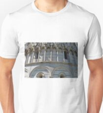 Detail of the Baptistery building in Piazza dei Miracoli Square of Miracles, Pisa, Tuscany, Italy Unisex T-Shirt