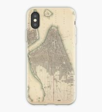 Vinilo o funda para iPhone Vintage Map of Lower New York City (1840)