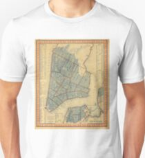 Camiseta unisex Vintage Map of New York City (1846)