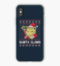 Xmas ugly sweater Cat Santa Claws iPhone Case