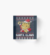Xmas ugly sweater Cat Santa Claws Acrylic Block