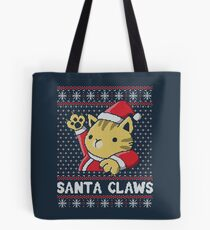Xmas ugly sweater Cat Santa Claws Tote Bag