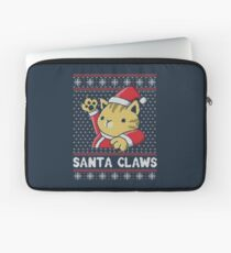 Xmas ugly sweater Cat Santa Claws Laptop Sleeve