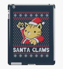 Xmas ugly sweater Cat Santa Claws iPad Case/Skin