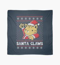 Xmas ugly sweater Cat Santa Claws Scarf