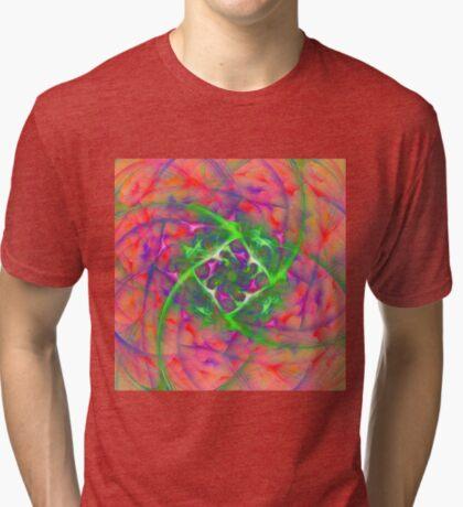At the beginning of the rotation #fractal art Tri-blend T-Shirt