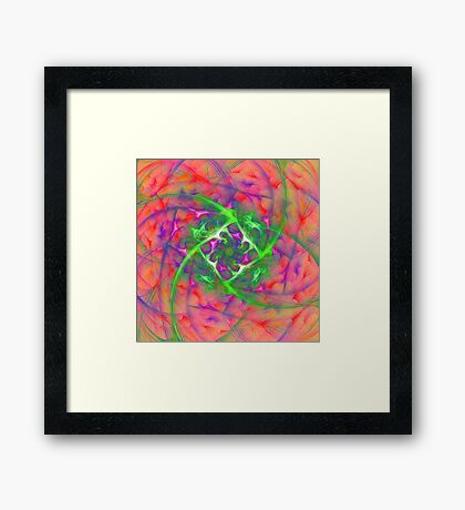 At the beginning of the rotation #fractal art Framed Print