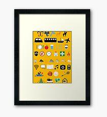 Travel icons Framed Print