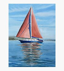 Sail boat on Sydney harbour Photographic Print