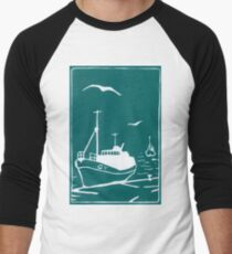 Trawlers - Comrades in Turquoise Men's Baseball ¾ T-Shirt