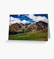 Mountains of the Mongolian Altai  Greeting Card
