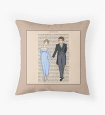 Elizabeth Bennet and Mr Darcy Throw Pillow