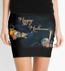 Happy Halloween Skulls Mini Skirt
