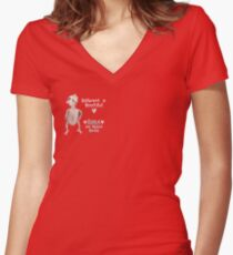 Rhea - Different is Beautiful Women's Fitted V-Neck T-Shirt