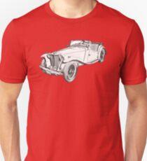 MG Convertible Antique Car Illustration Unisex T-Shirt