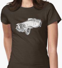 MG Convertible Antique Car Illustration T-Shirt