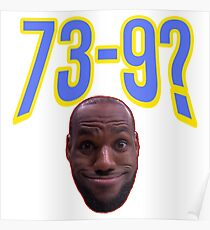Lebron James Funny Face Poster