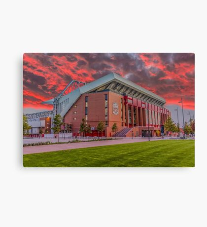 Red Sky Over Anfield Canvas Print