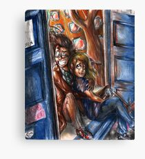 The Tenth Doctor and Rose Canvas Print