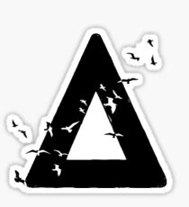 Bastille Birds Triangle Black Sticker