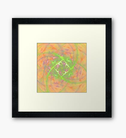 At the beginning of the rotation #fractal art 2 Framed Print