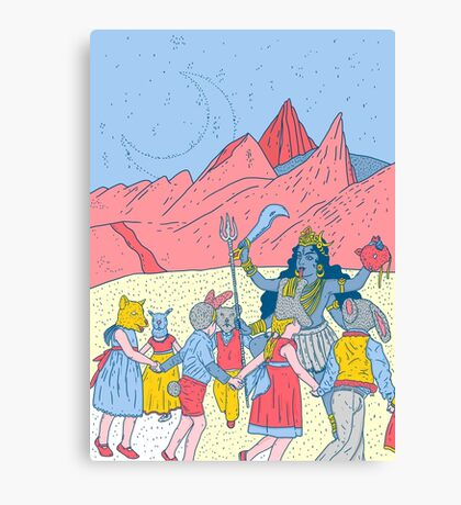 Kali dance  Canvas Print