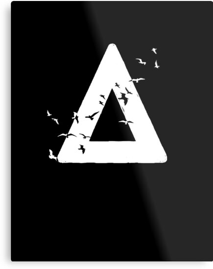 Bastille Birds Triangle White by suzzles