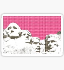Mount Rushmore - Pink Sticker