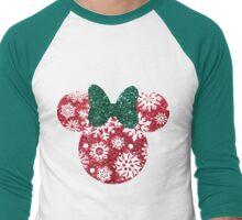 Christmas Silhouette  Men's Baseball ¾ T-Shirt