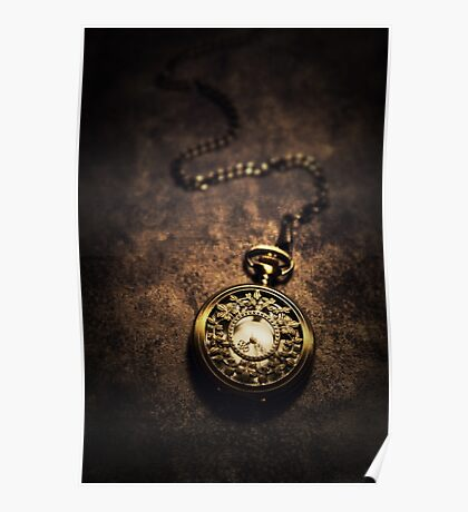 Ornamented pocket watch Poster