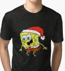 Spongebob Christmas Tri-blend T-Shirt