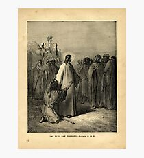 THE DUMB MAN POSSESSED - MATTHEW IX.32, 33 Photographic Print