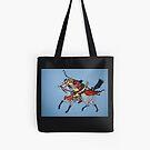 Samurai Warrior Tote Bag by Shulie1
