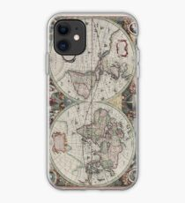 Vintage Map of The World (1630) iPhone Case