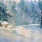 Cottage in the Snow by Glenn Marshall