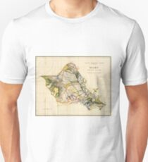 Vintage Map of Oahu Hawaii (1906) Unisex T-Shirt